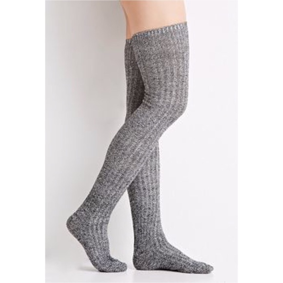 ae0f56a41 Tall gray over the knee socks